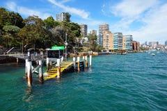 亲爱的点轮渡码头,悉尼港口,澳大利亚 免版税库存照片