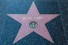 亲爱的Abby好莱坞明星 免版税库存照片
