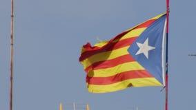 亲独立卡塔龙尼亚旗子 股票视频
