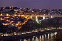亲王D Henrique桥梁在波尔图 免版税图库摄影