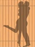 亲吻在篱芭的阴影 库存例证