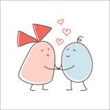 亲吻夫妇 免版税图库摄影