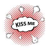 亲吻我!可笑的讲话泡影,动画片 库存图片
