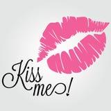 亲吻我 库存照片