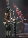 亲吻的保罗・斯坦利歌手吉他弹奏者 库存图片