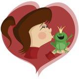 亲吻青蛙! 库存照片