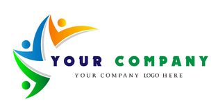 人一起商标,人联合队商标,公司商标的小组作业概念 库存例证