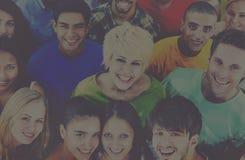人一起青年文化学生快乐的概念 免版税图库摄影