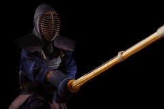 人与bokuto的kendo战斗机画象  图库摄影