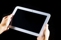 人个人计算机片剂使用 库存图片