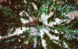 人为圣诞树横断面 免版税库存照片