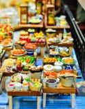 人为微型泰国的食物 免版税库存照片