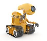 人为未来派智能机器人谈话 库存图片