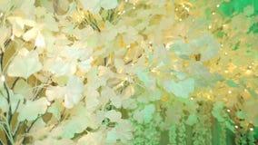 人为树由与光的纸,装饰制成 影视素材
