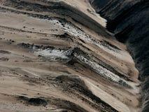 人为横向露天开采矿 库存图片