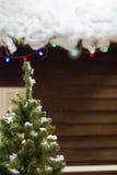 人为气球球圣诞节曲奇饼装饰了不同的片段手画红色形状云杉的结构树 免版税库存图片