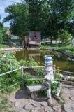 人为池塘,文化和休闲中央公园  库存照片