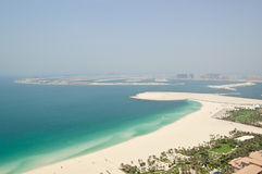 人为海岛jumeirah掌上型计算机视图 库存图片