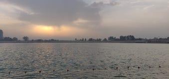 人工湖 免版税库存照片