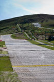 人为爱丁堡s苏格兰滑雪倾斜 库存照片