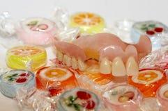 人为牙齿肢体 免版税库存图片