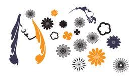 人为美好的明亮的五颜六色的创造性的睫毛眼影膏羽毛女花童长的构成佩带的花圈年轻人 免版税库存照片