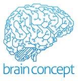 人为脑子巡回概念电子情报mainboard 库存照片