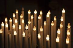 人为蜡烛,比萨大教堂  免版税图库摄影