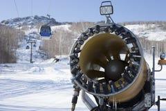人为雪的雪大炮 库存图片