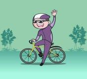 人乘驾自行车 图库摄影
