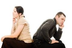人争吵妇女 免版税图库摄影