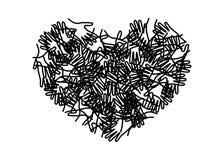 人五颜六色的手一起团结了以心脏形式 库存图片
