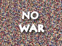 人人群有题字的没有战争 库存照片