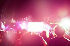 人人群音乐会的 免版税库存图片