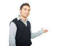 人介绍年轻人 免版税库存照片