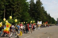 20 ` 000人们加入了反核能示范 免版税库存照片
