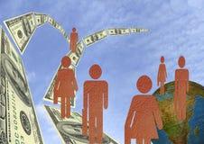 人们团结的workteam 免版税库存图片