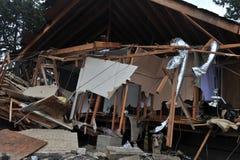 人们在希捷中失去了他们的房子 免版税库存图片