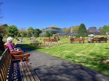 人们在Kelvingrove公园在格拉斯哥 免版税库存图片