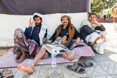 人们在Sana'a,也门 免版税库存照片