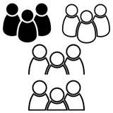 人们排行象、概述和坚实传染媒介例证,在灰色隔绝的线性图表-储蓄传染媒介 库存例证