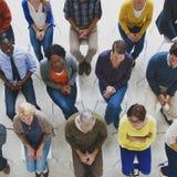 人会议研讨会大会微笑的观众概念 免版税库存照片