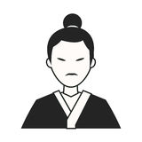 人传统日本的服装 免版税库存照片