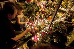 人位置在荷兰使馆开花在Kyiv 库存照片