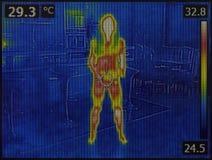 人体上升暖流图象 免版税库存照片