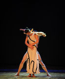 人体跨差事到迷宫现代舞蹈舞蹈动作设计者玛莎・葛兰姆里 免版税库存照片