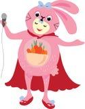 人佩带的兔子礼服传染媒介  免版税库存照片