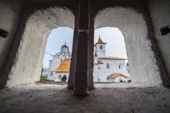 人修道院s视图视窗 免版税库存照片