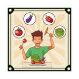 人健康食品 库存例证