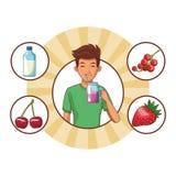 人健康食品 皇族释放例证